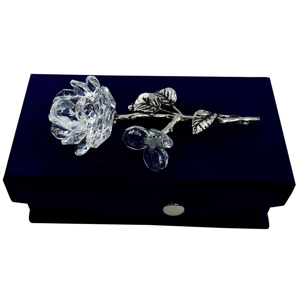Crystal Milano Rose in Velvet Box by Crystal Florida