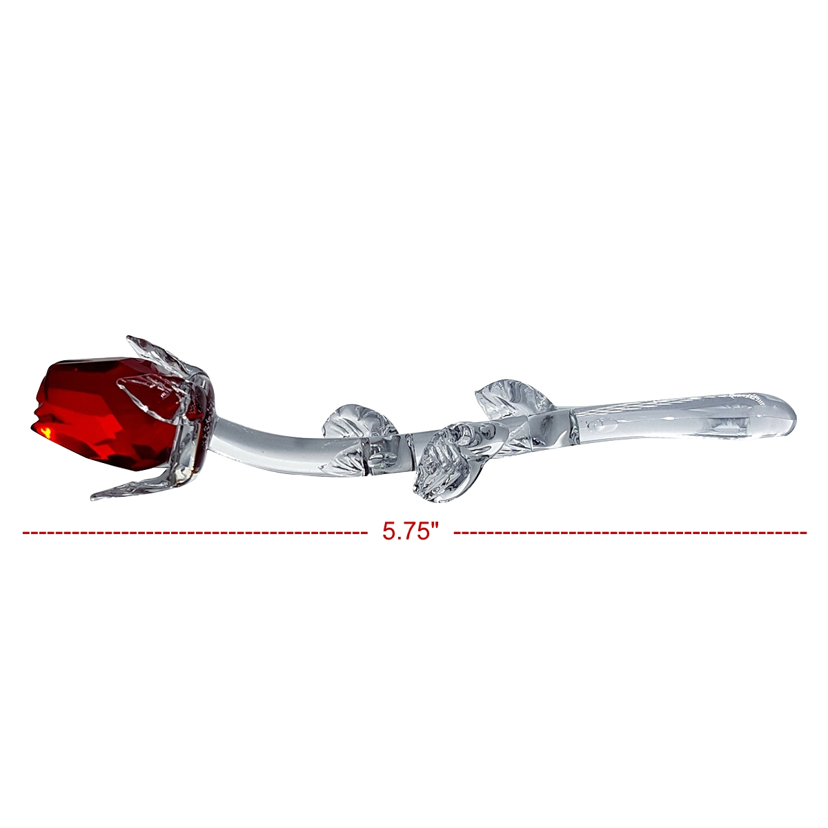 Crystal Red Laying Rosebud By Crystal Florida