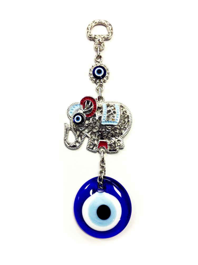 6.5 Inches Tall Elephant And Evil Eye Office And Home Decor 5272