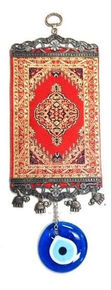 12 inches tall red kilim rug evil eye office and home for Evil eye home decor