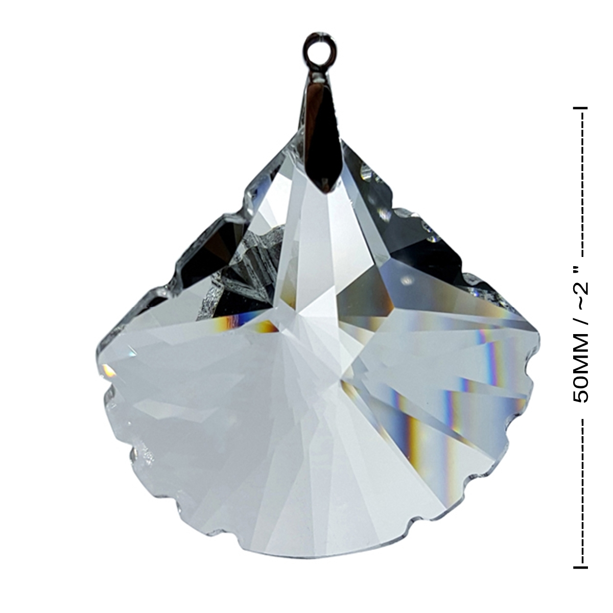 Crystal Scallop Feng Shui Window Prism 50mm / 2 Inches