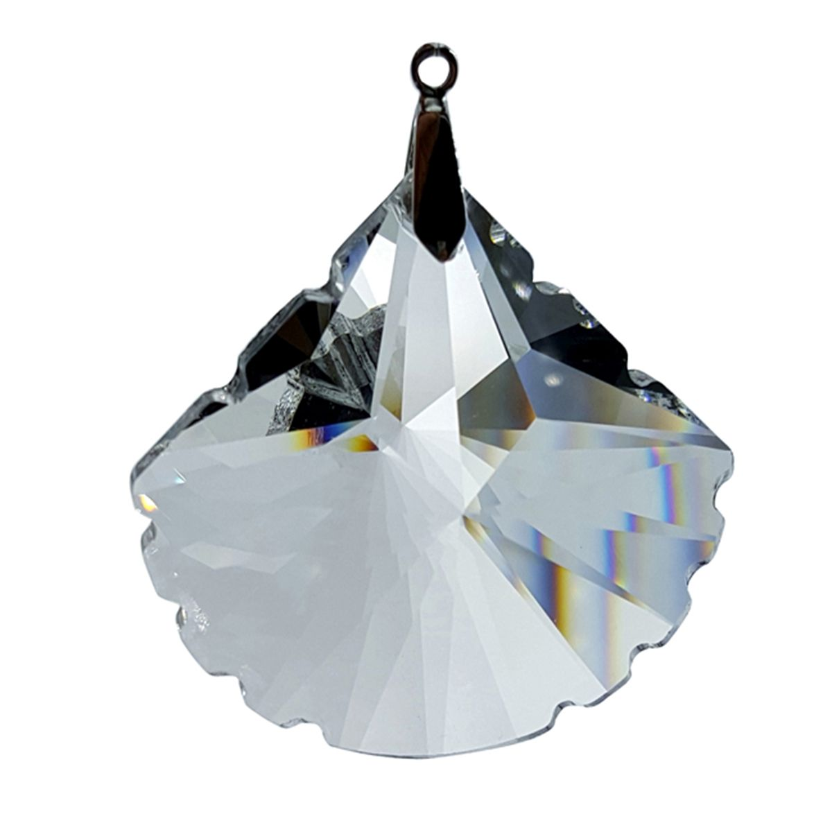 Crystal Scallop Feng Shui Window Prism 63mm / 2.5 Inches