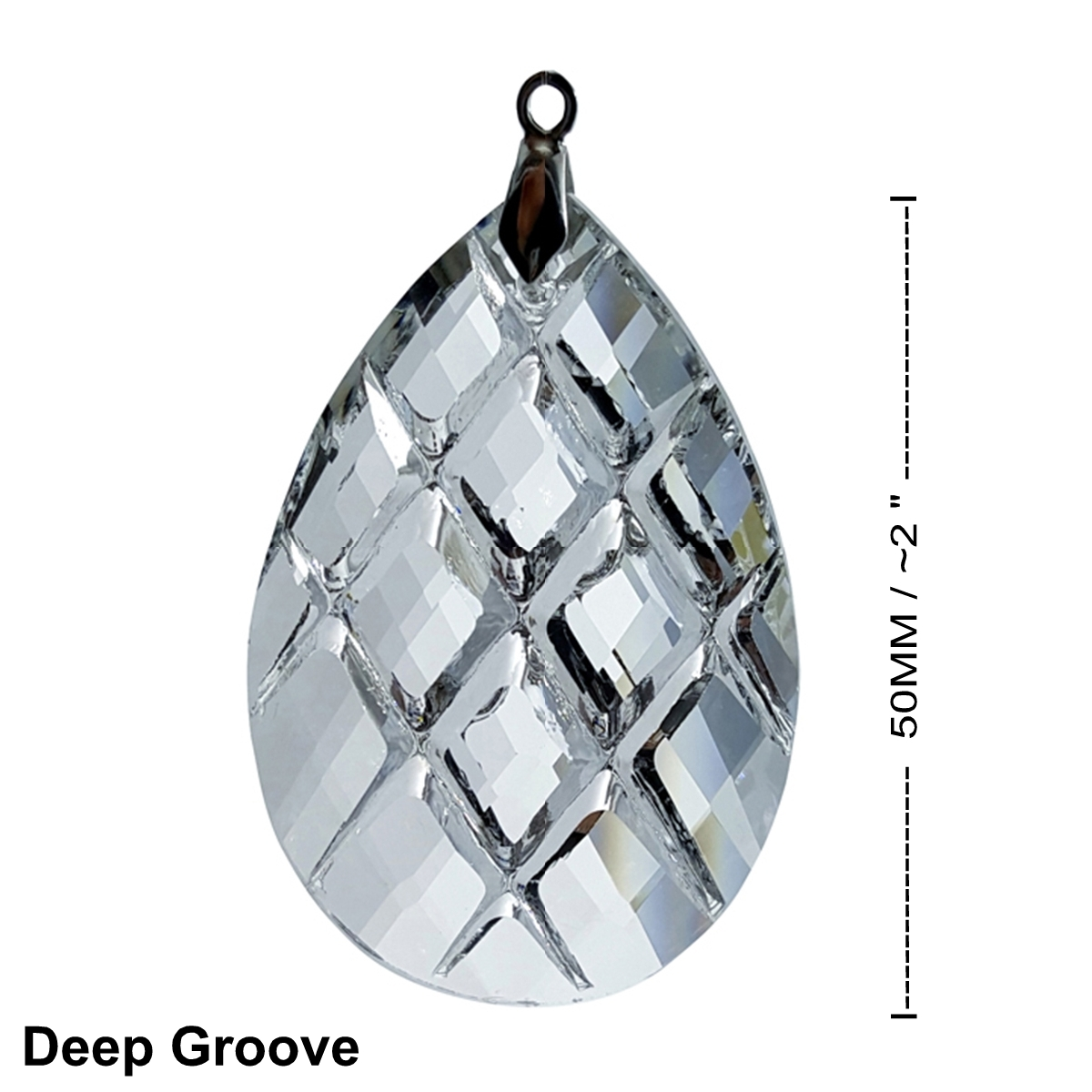 Crystal Deep Grove Feng Shui Window Prism 50mm / 2 Inches