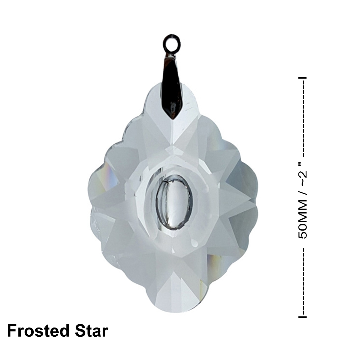Crystal Frosted Star Feng Shui Window Prism 50mm / 2 Inches