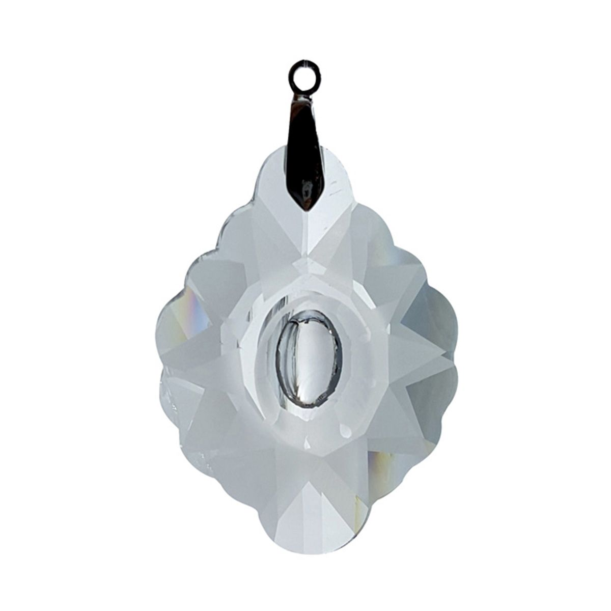 Crystal Frosted Star Feng Shui Window Prism 89mm / 3.5 Inches