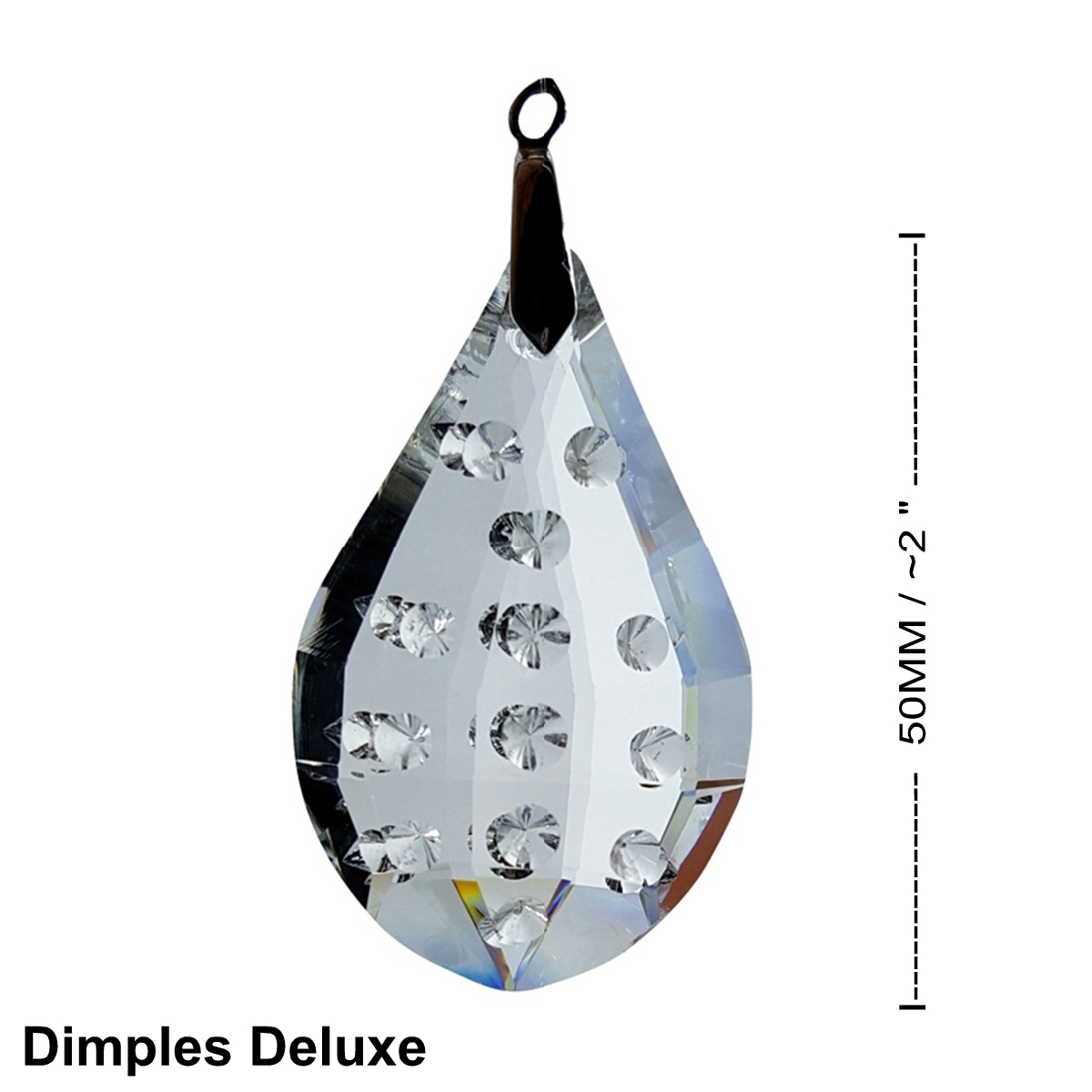 Crystal Dimples Deluxe Feng Shui Window Prism 50mm / 2 Inches