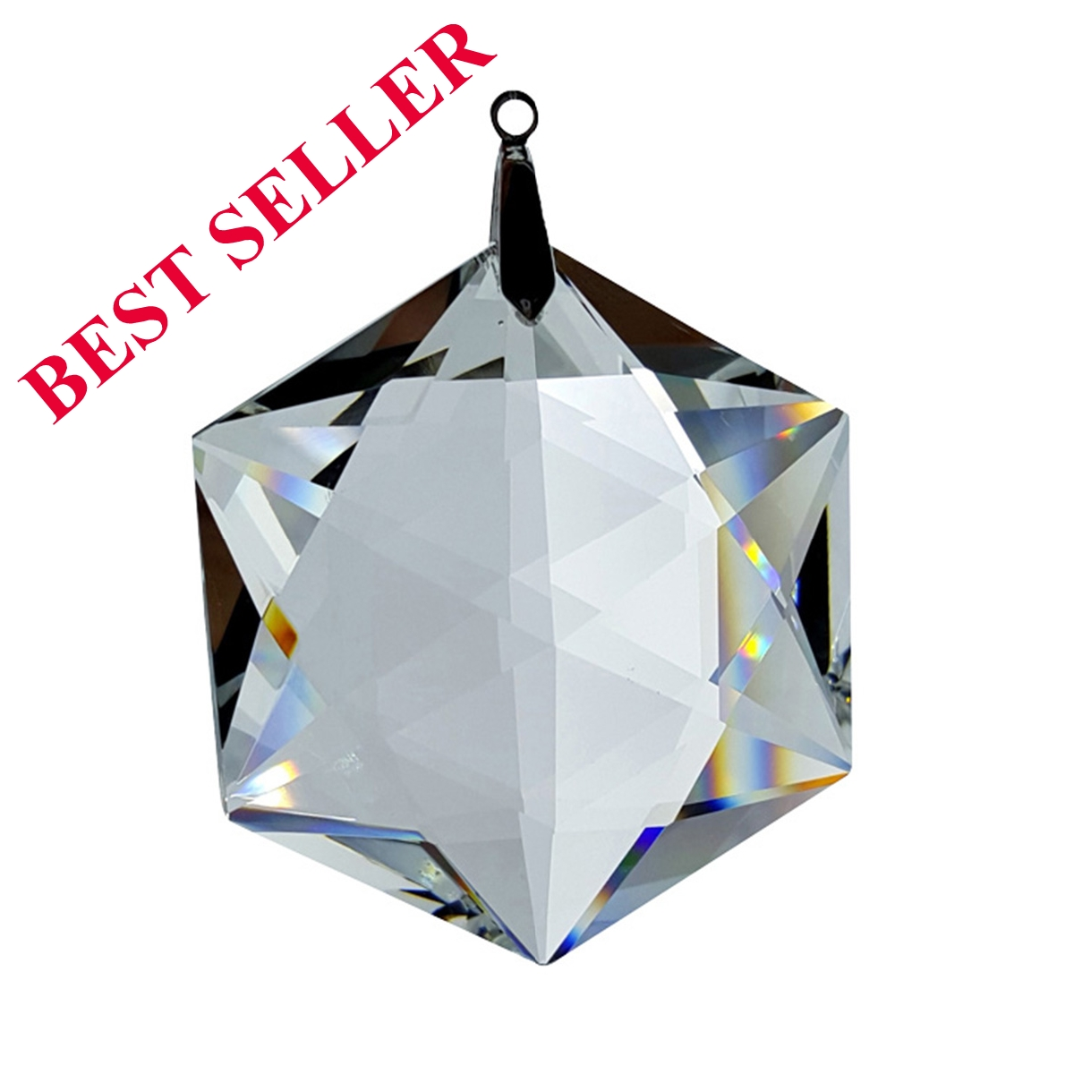 Crystal Beauty Hexagon Feng Shui Window Prism 50mm / 2 Inches