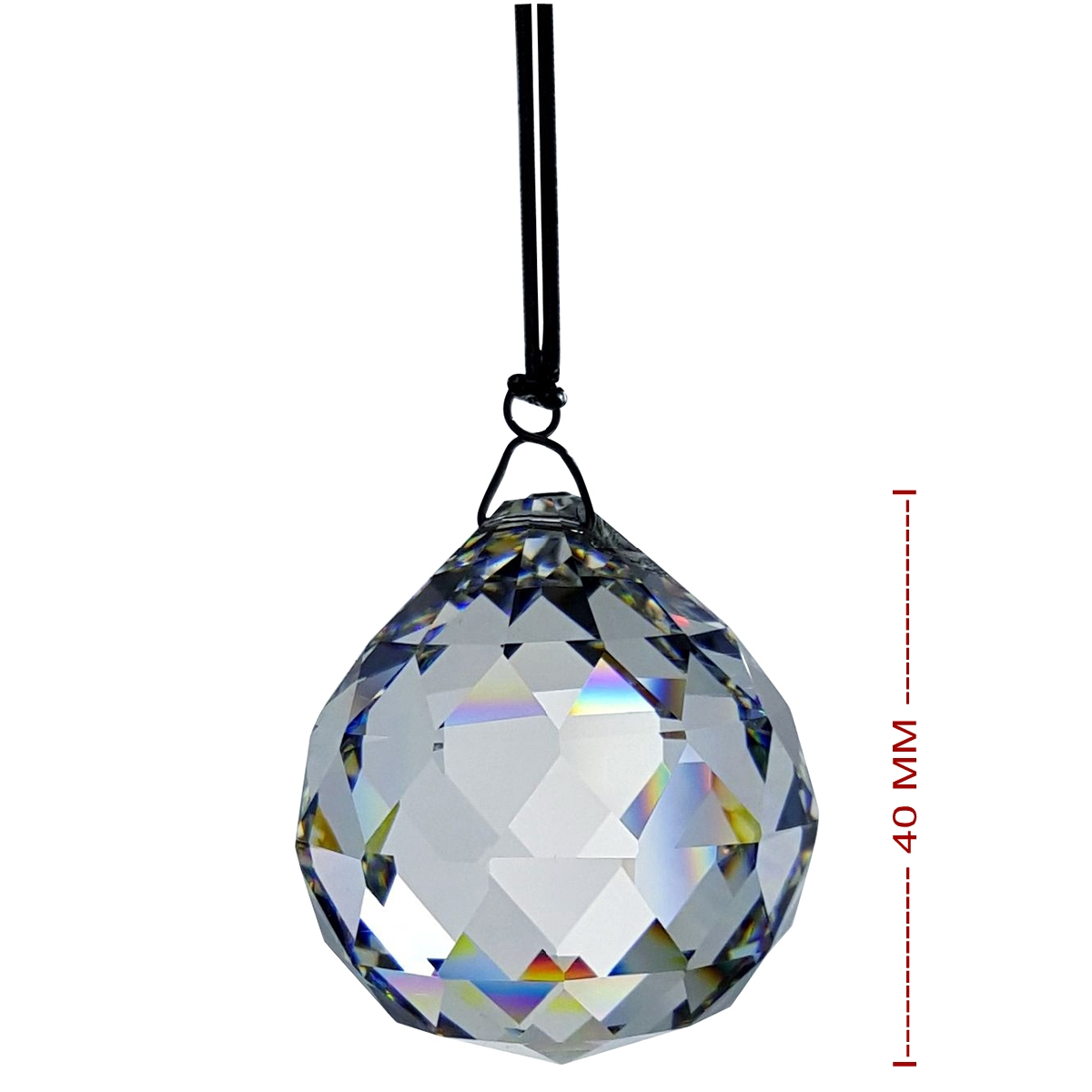 40 mm Crystal Hanging Ball Figurine By Crystal Florida