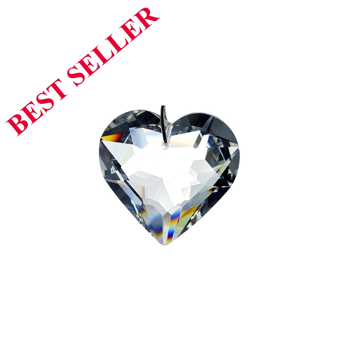 Crystal Hanging Heart Figurine By Crystal Florida 50 MM