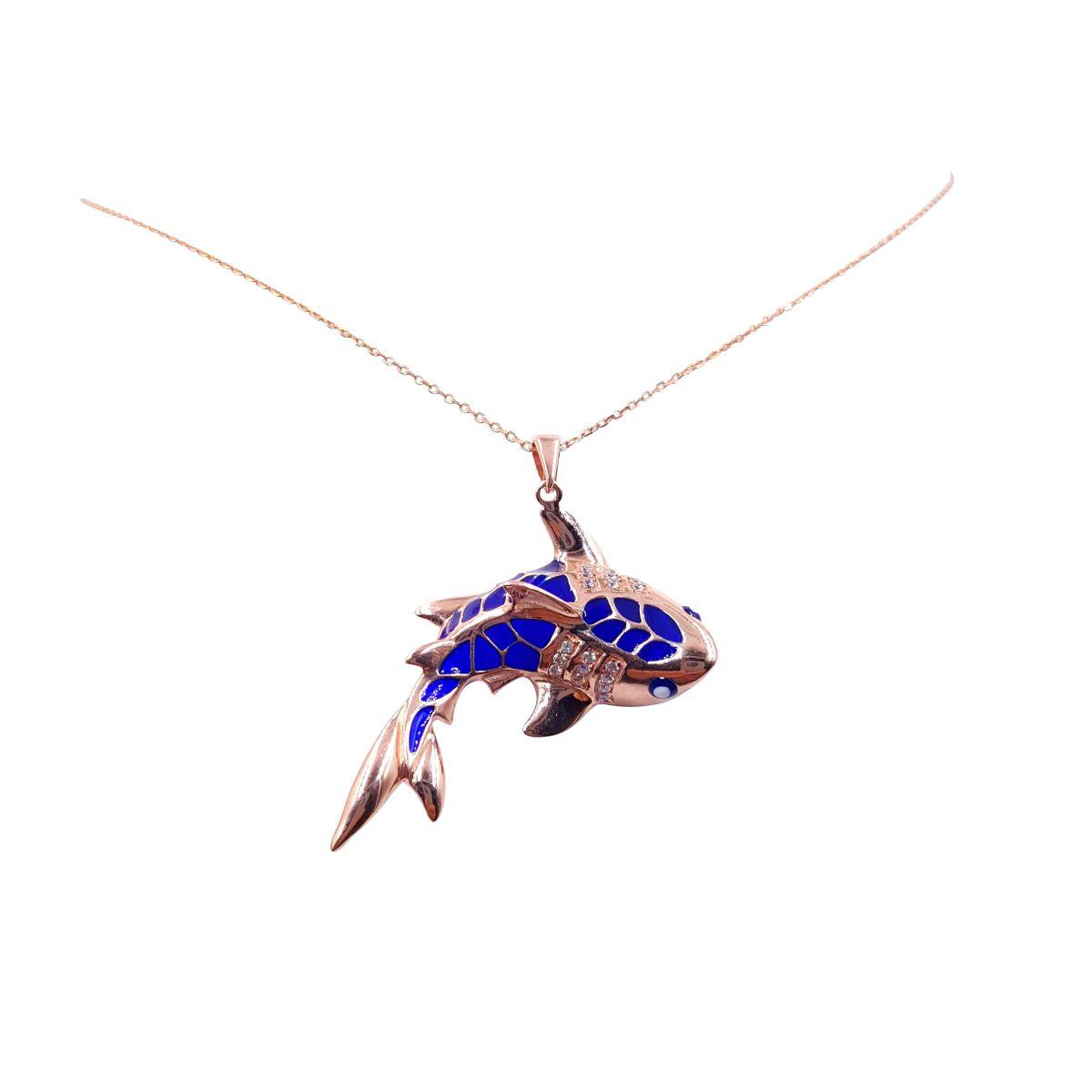 14k rose gold over sterling silver evil eye shark necklace 14k rose gold over sterling silver evil eye shark necklace aloadofball Images