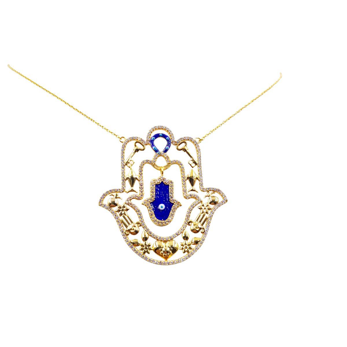 14k gold over sterling silver evil eye large hamsa necklace 14k gold over sterling silver evil eye large hamsa necklace aloadofball Choice Image