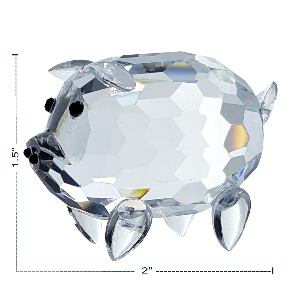 Crystal Pig Figurine By Crystal Florida