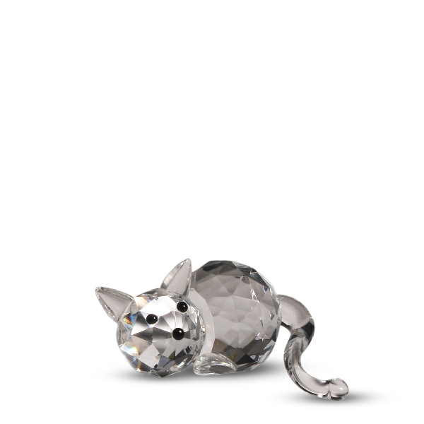 Crystal Fat Cat Figurine By Crystal Florida