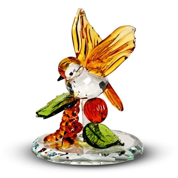 Crystal Tropical Bird  Figurine By Crystal Florida