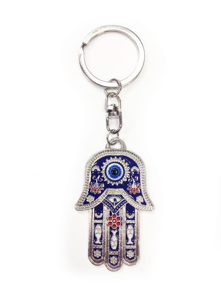 Hamsa Hand Of Fatima Evil Eye Key Chain