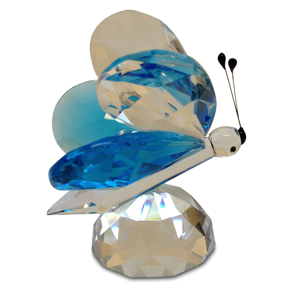 Crystal Blue Butterfly Figurine Large By Crystal Florida