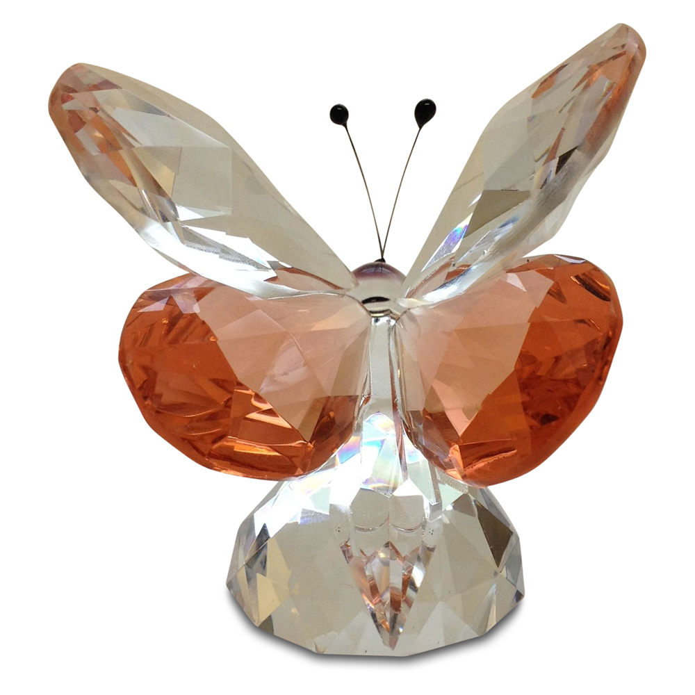 Crystal Pink Butterfly Large By Crystal Florida