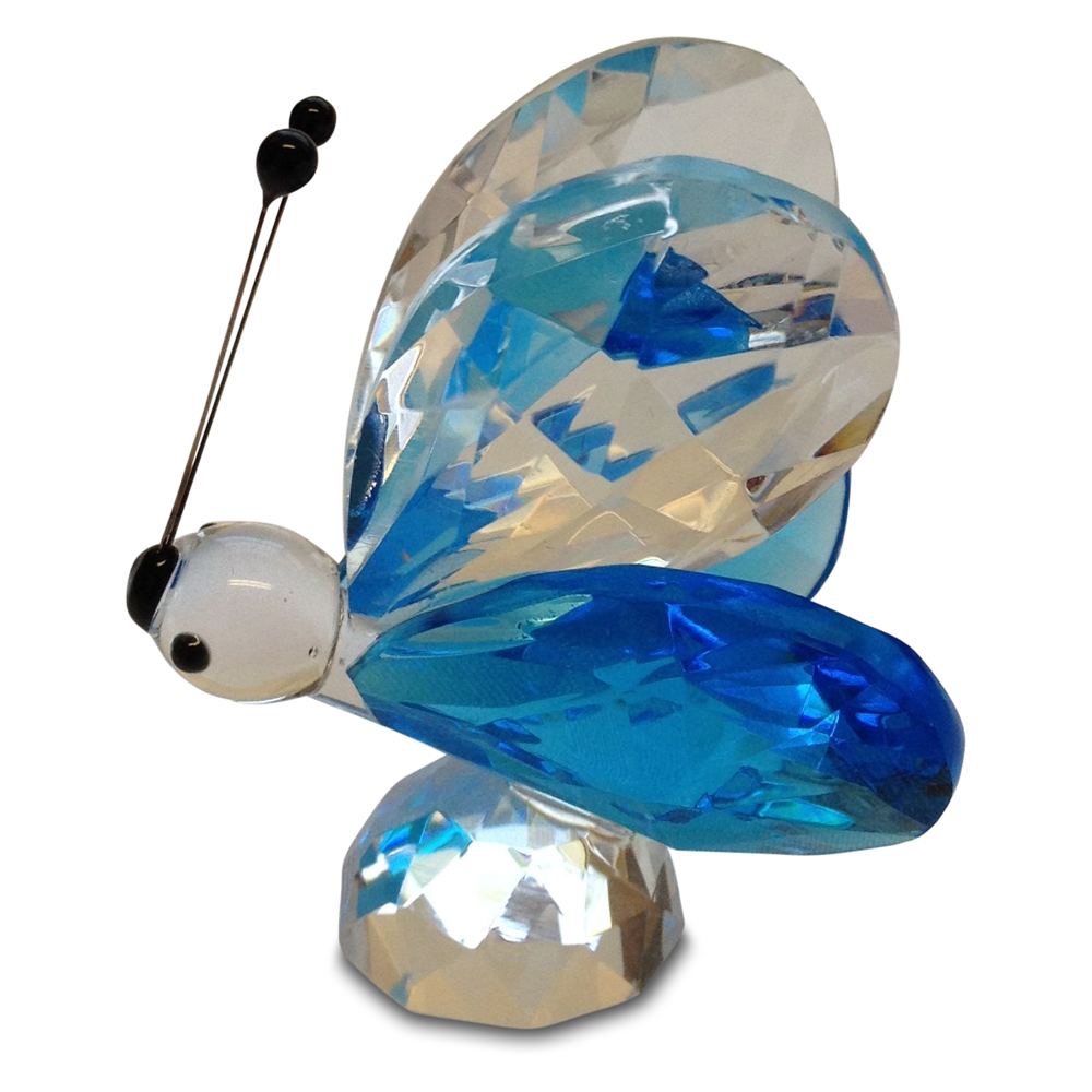 Crystal Blue Butterfly Figurine Small By Crystal Florida