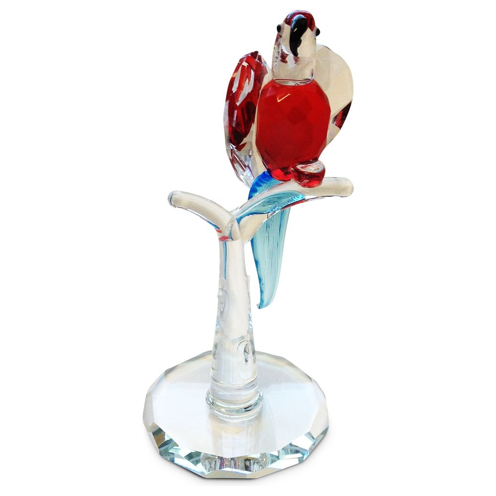 Crystal Red Parrot Figurine By Crystal Florida