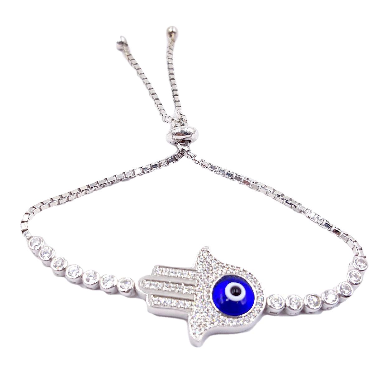 Eye High Quality 925 Sterling Silver Hamsa Bracelet