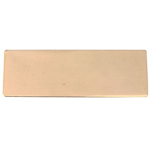 Gold No Hole Plate 35 x 15