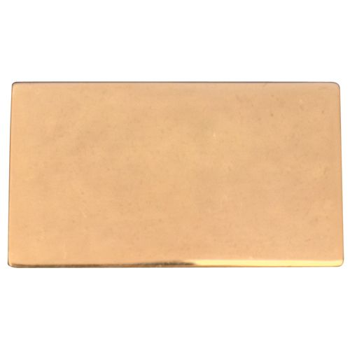 Gold No Hole Plate 35 x 20