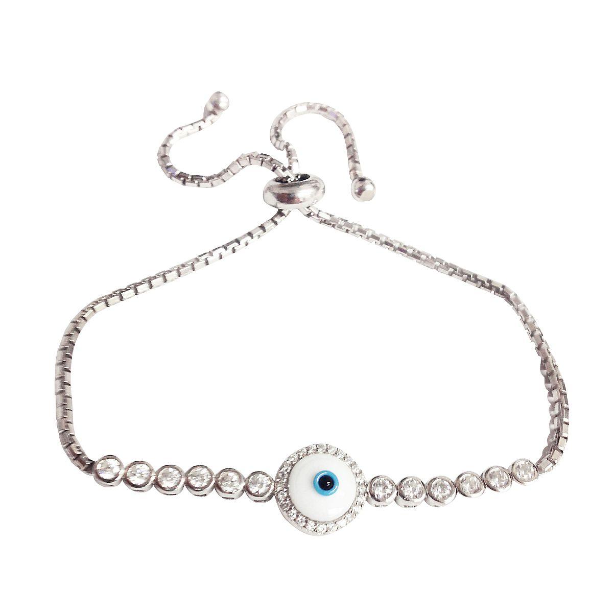 Sterling Silver Evil Eye Bracelet 9390 2