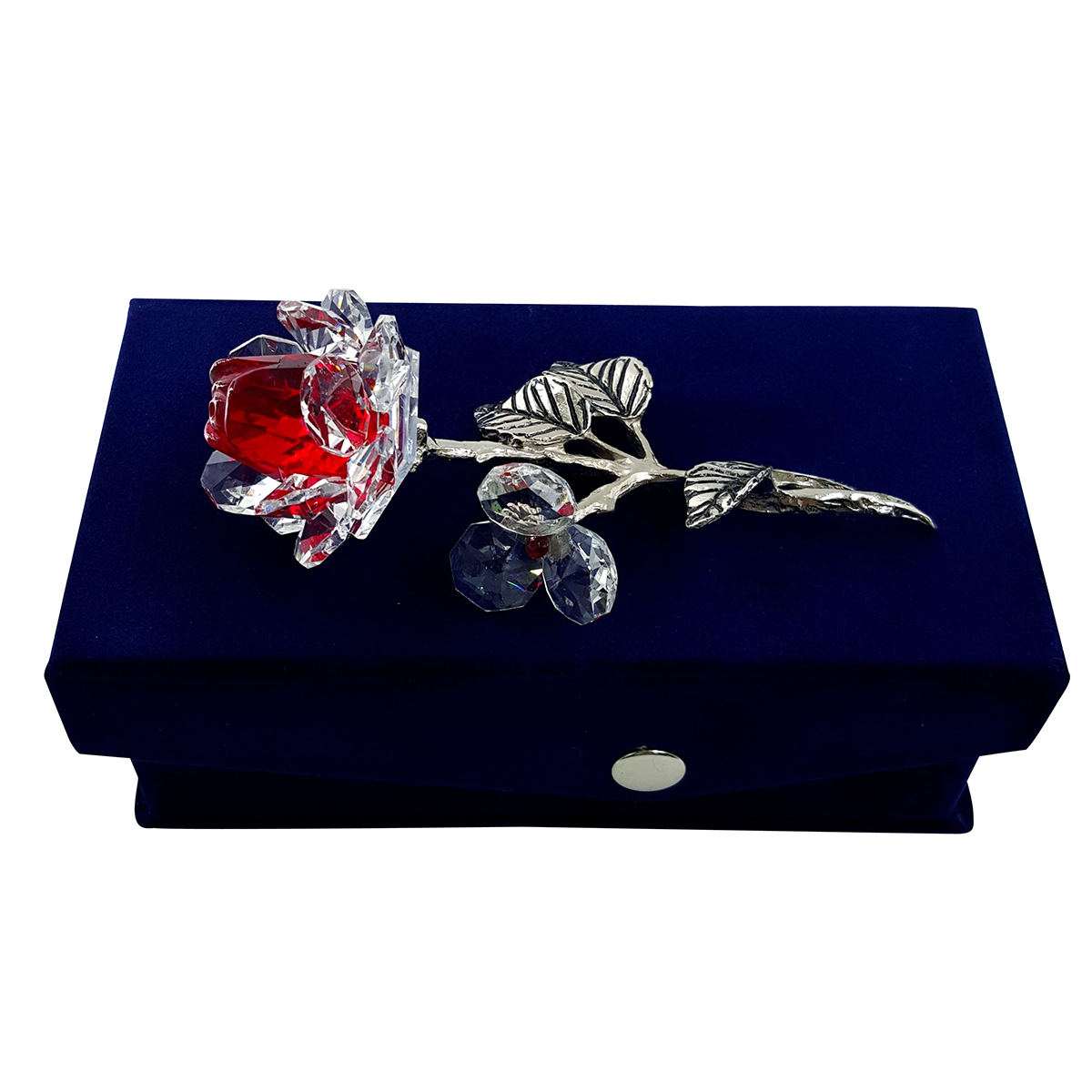 Crystal Milano Rose Red - NOW IN HANDMADE VELVET BOX