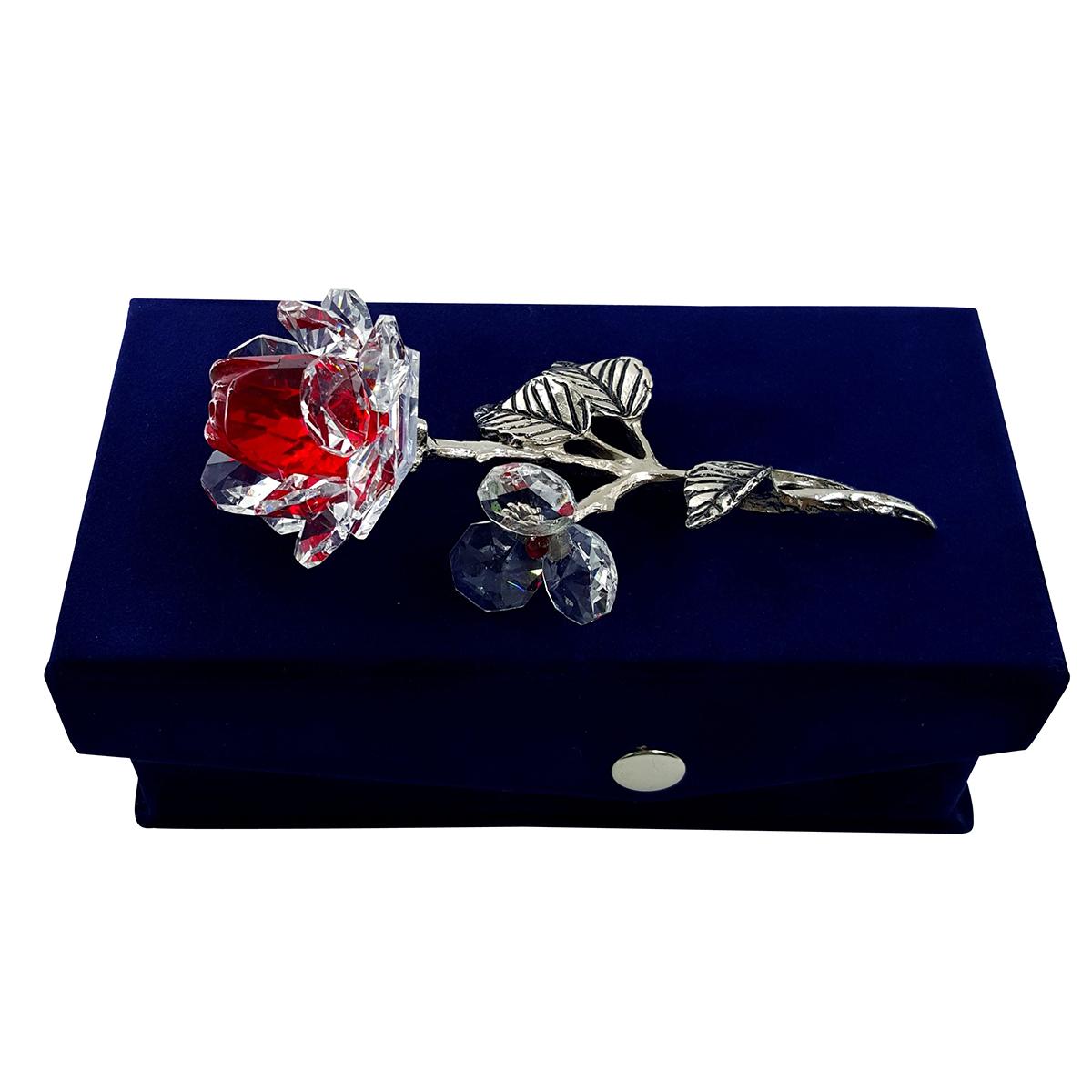 Crystal Milano Rose Red Now In Handmade Velvet Box
