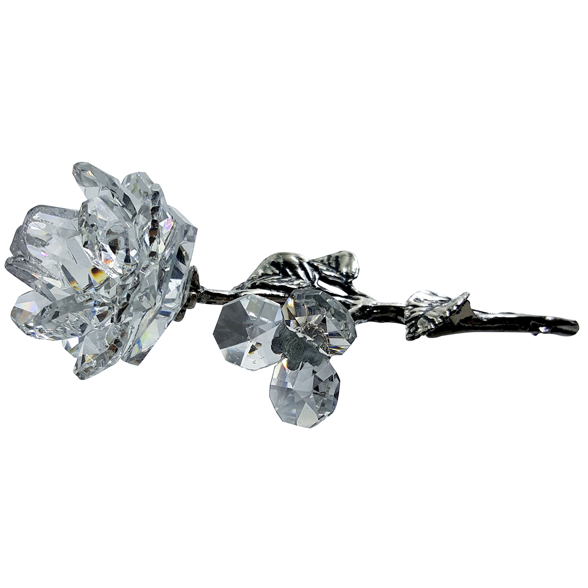 Crystal Milano Rose With Metal Stem 1902 35 00