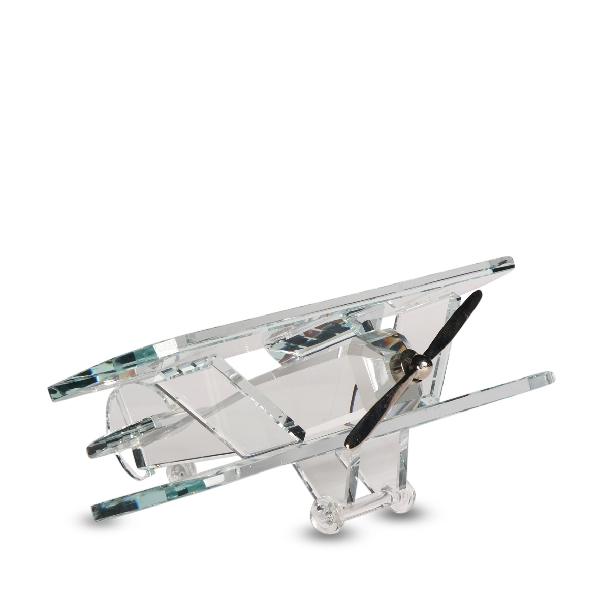 Wholesale Crystal Bi Plane Figurine Large
