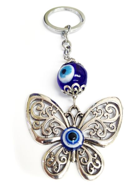 Evil Eye Butterfly Key Chain
