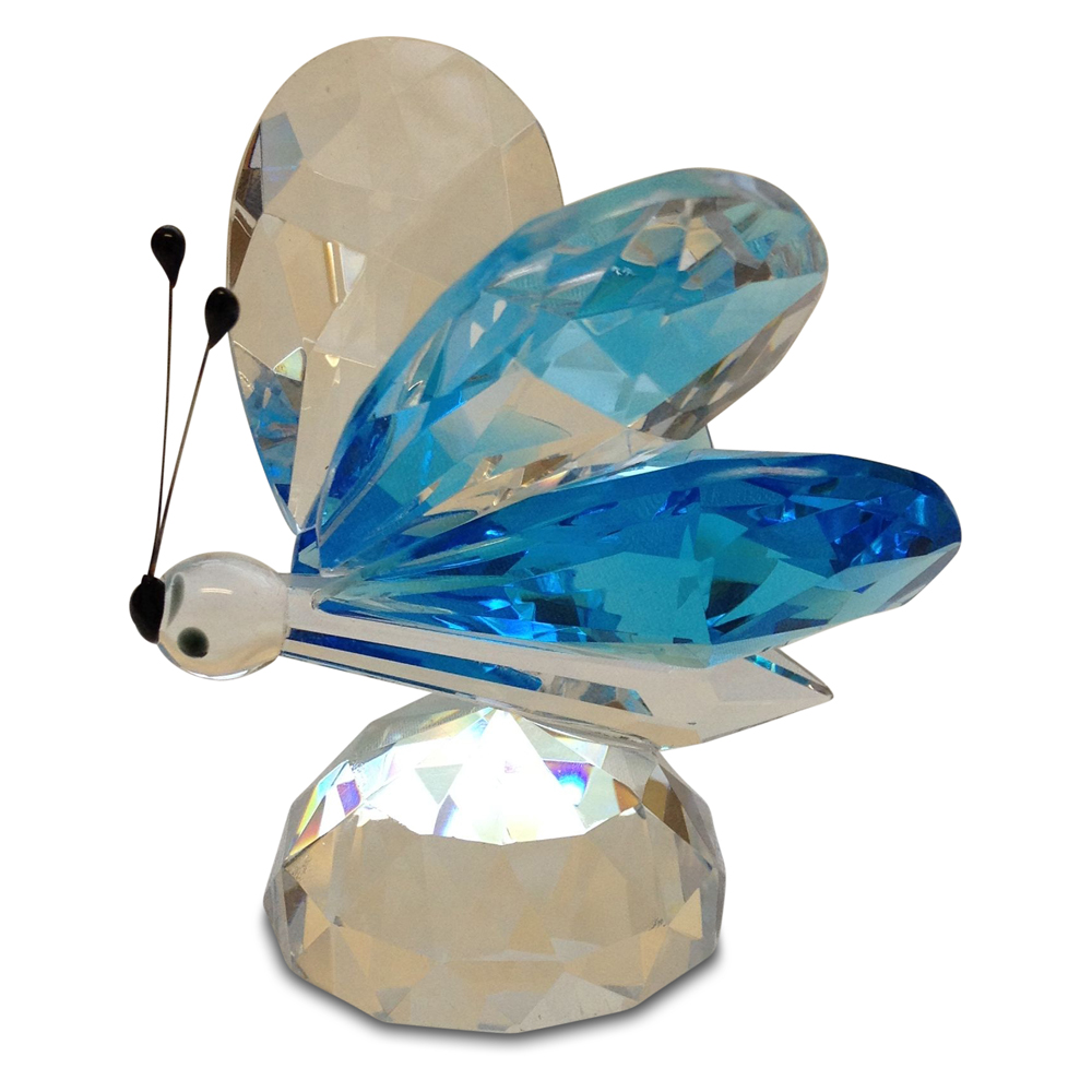 Crystal Large Butterfly with Blue Wings