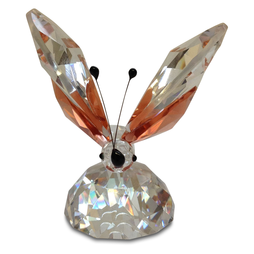 Crystal Large Butterfly with Pink Wings