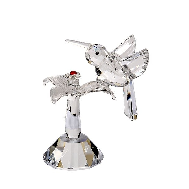 Crystal Hummingbird Figurine 3 1/2""