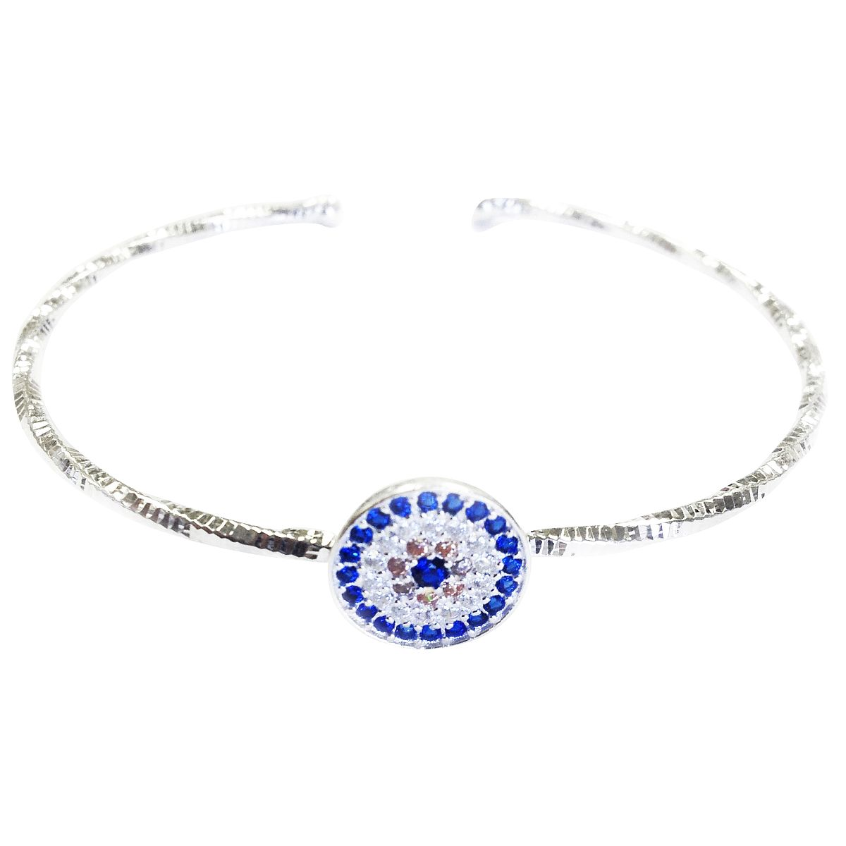 Sterling Silver Evil Eye Bangle CMB20159345