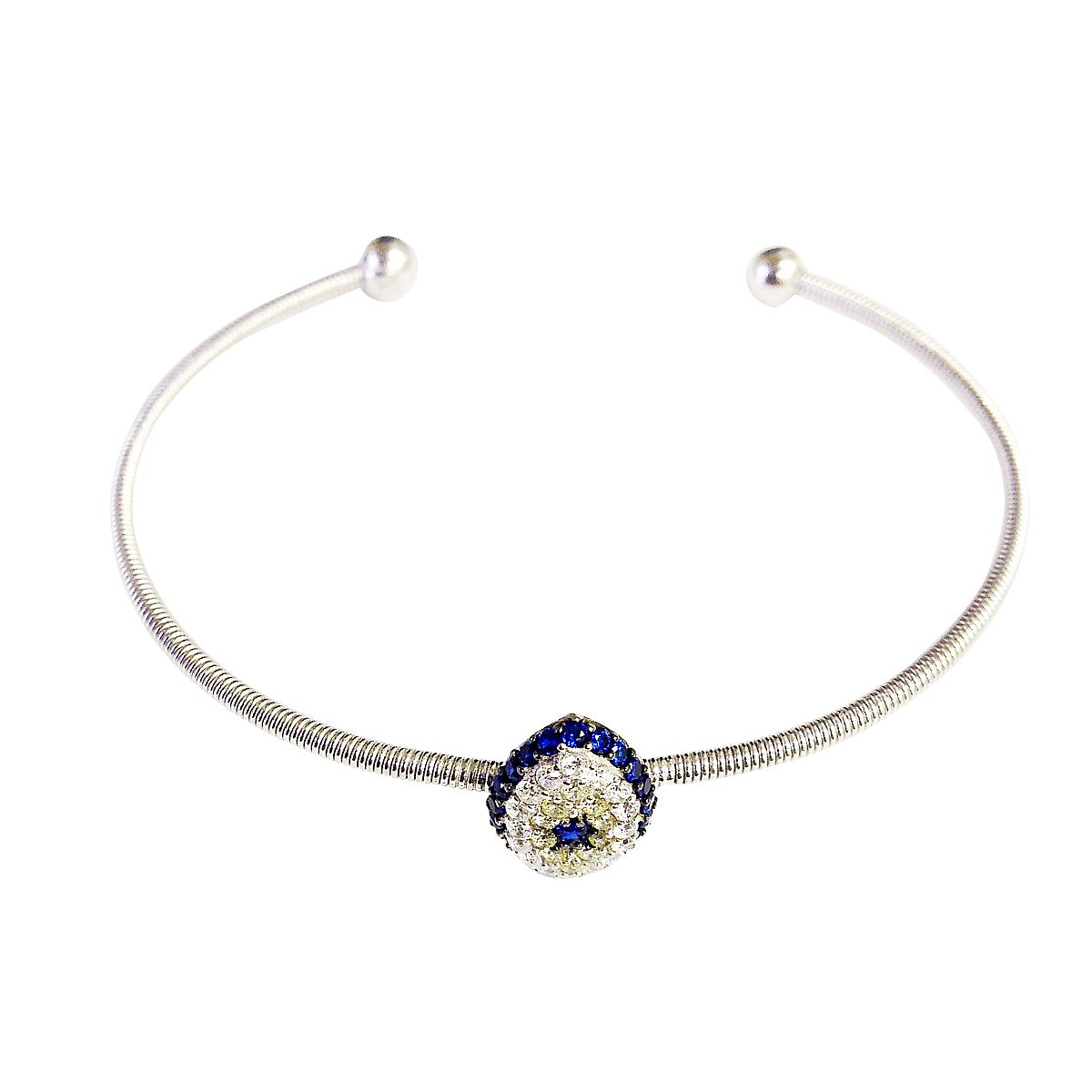 Sterling Silver Evil Eye Bangle CMB20159358