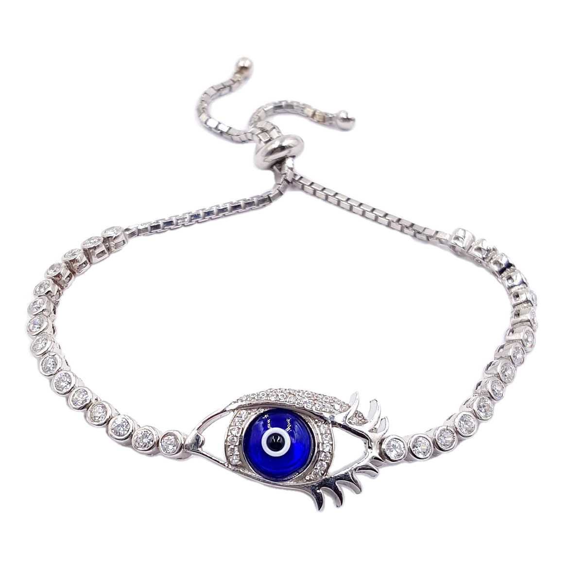 #9380 Evil Eye High Quality 925 Sterling Silver Bracelet