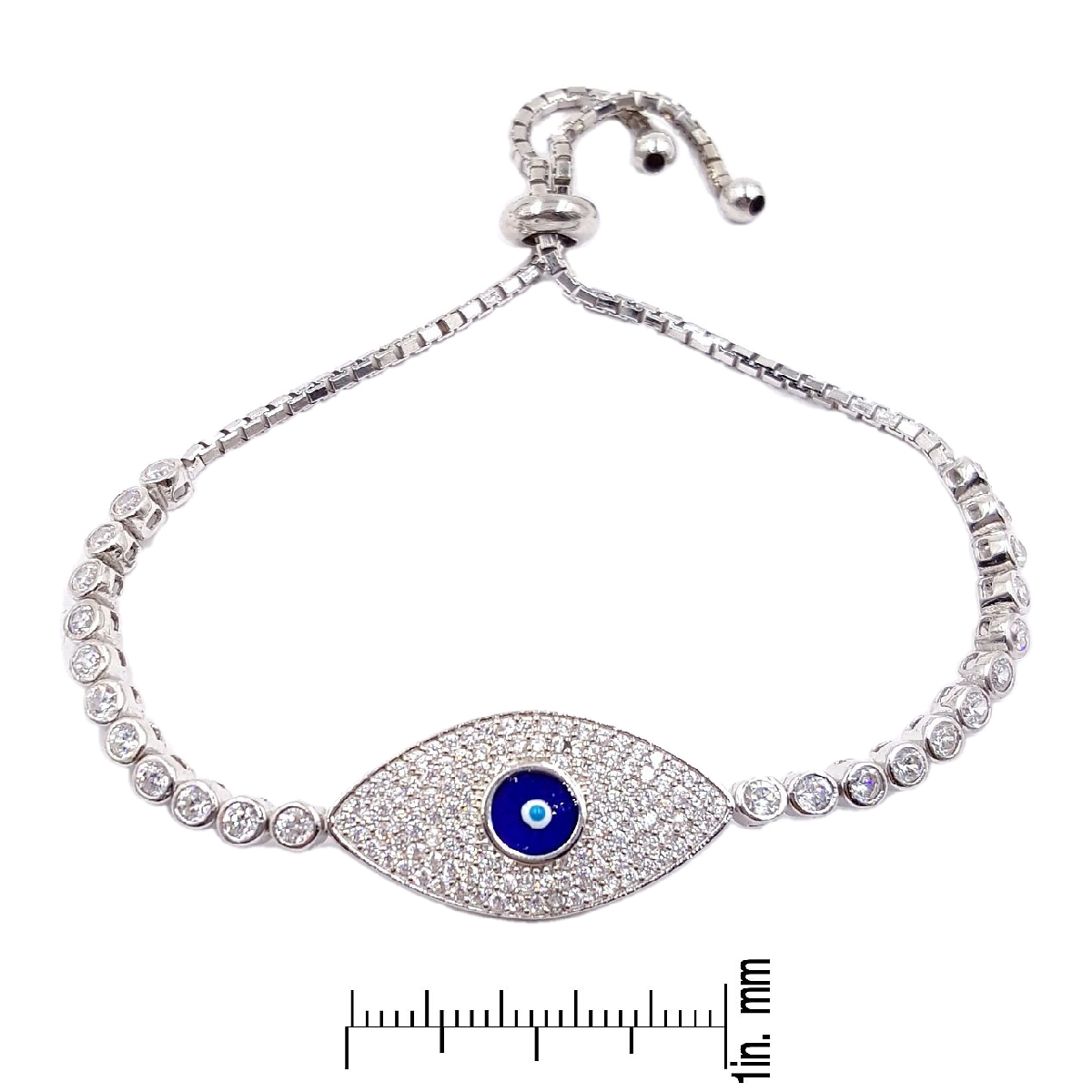 #9383 Evil Eye High Quality 925 Sterling Silver Bracelet