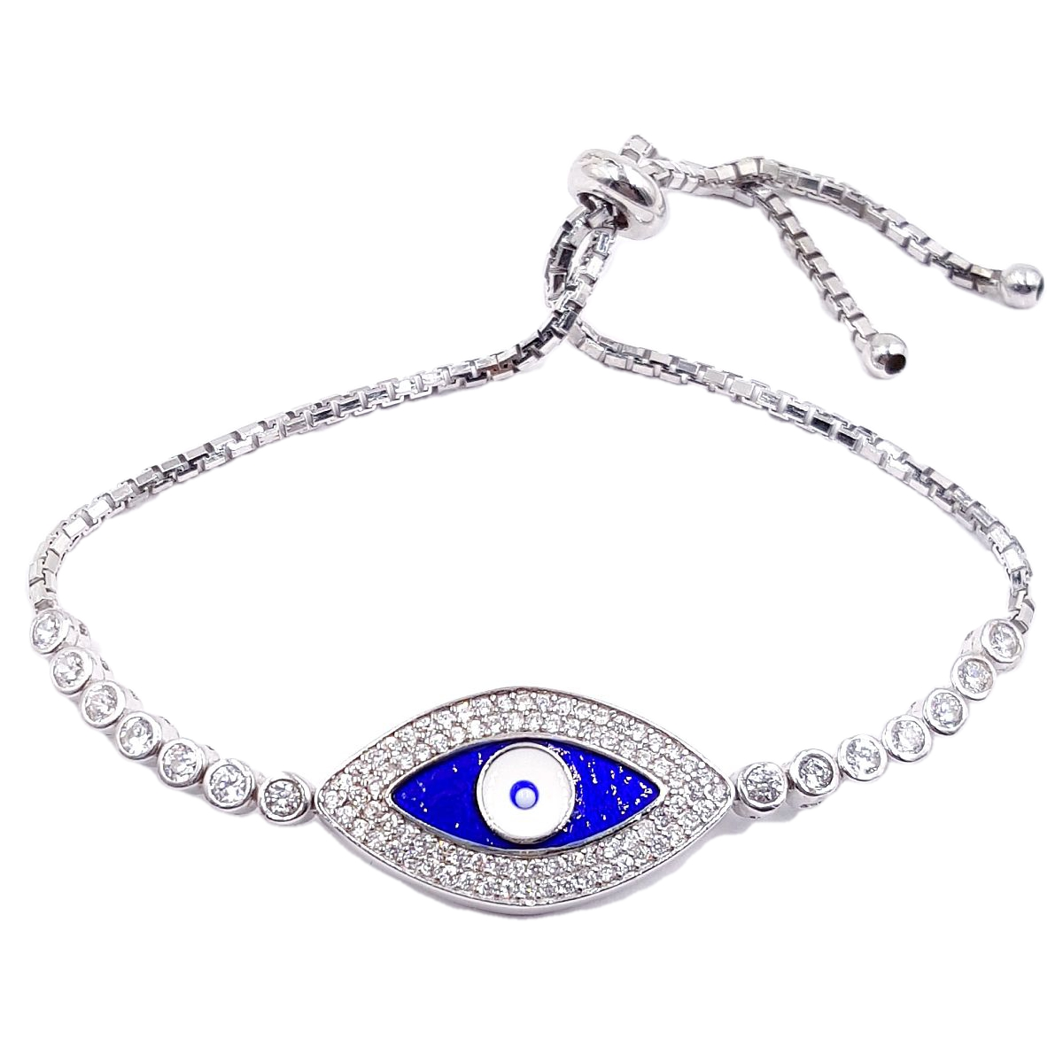 #9384 Evil Eye High Quality 925 Sterling Silver Bracelet