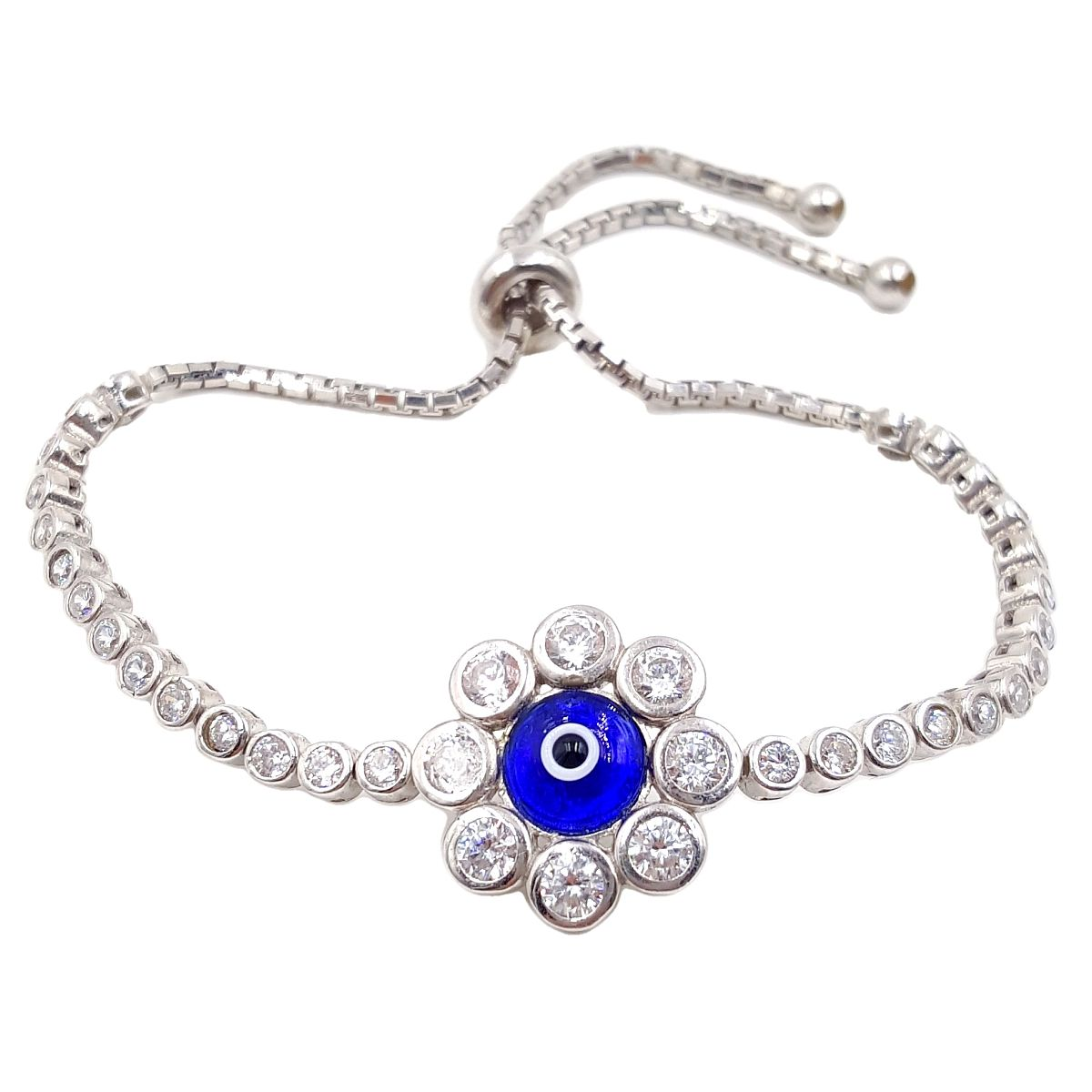 #9392 Evil Eye High Quality 925 Sterling Silver Chamomile style