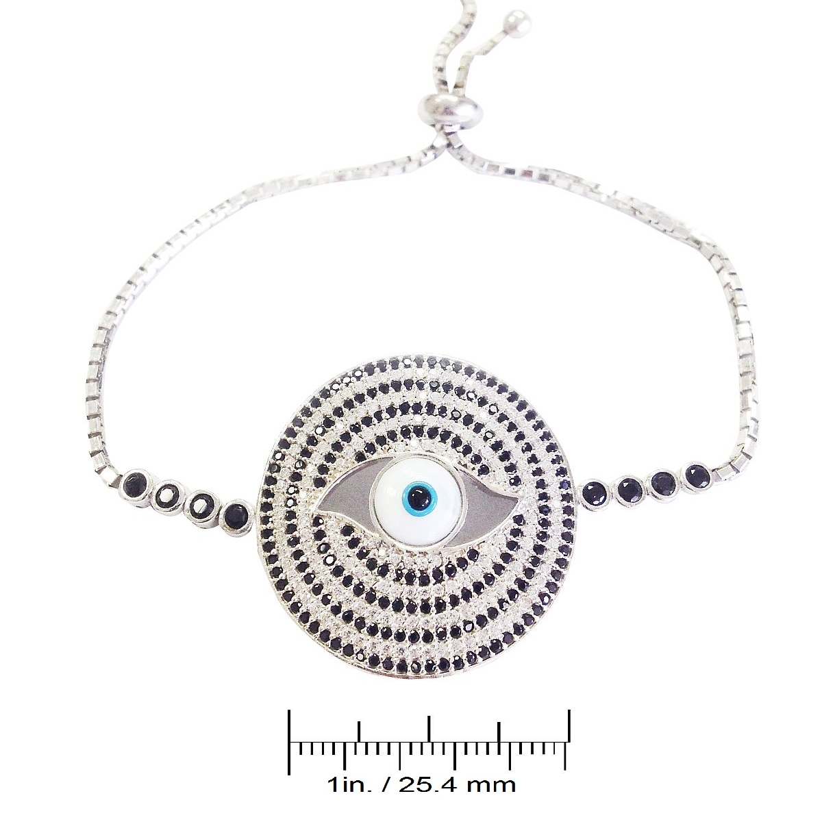 Sterling Silver Evil Eye Shield Bracelet CMB20159373