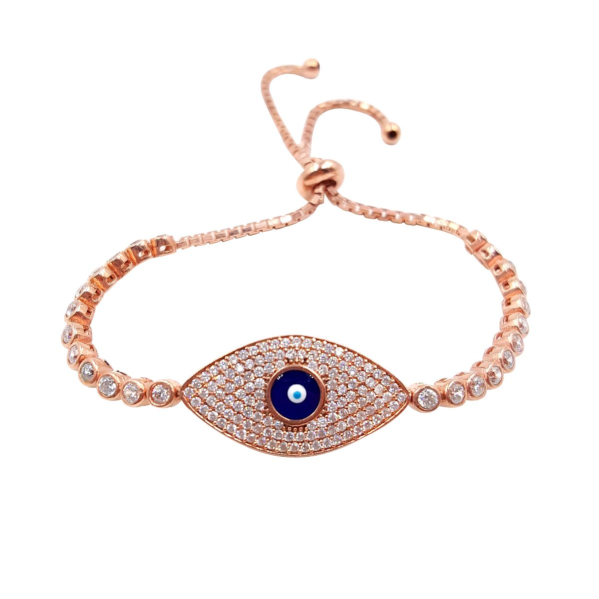 Gold over Sterling Silver Evil Eye Bracelet CMB20159383-2