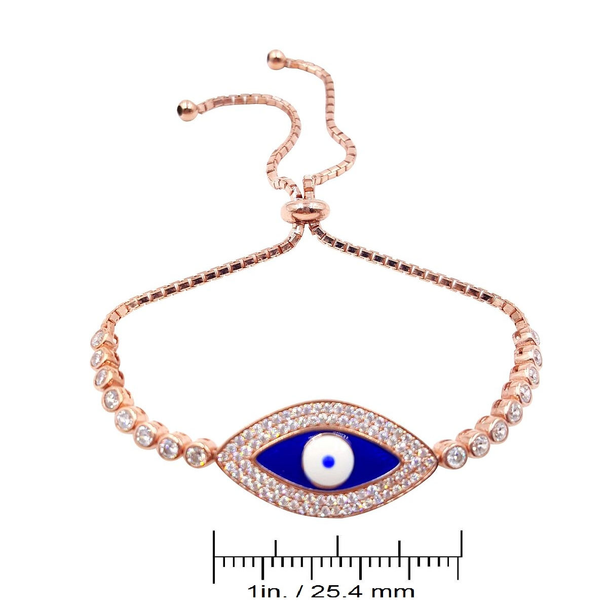 Gold over Sterling Silver Evil Eye Bracelet CMB20159384-2