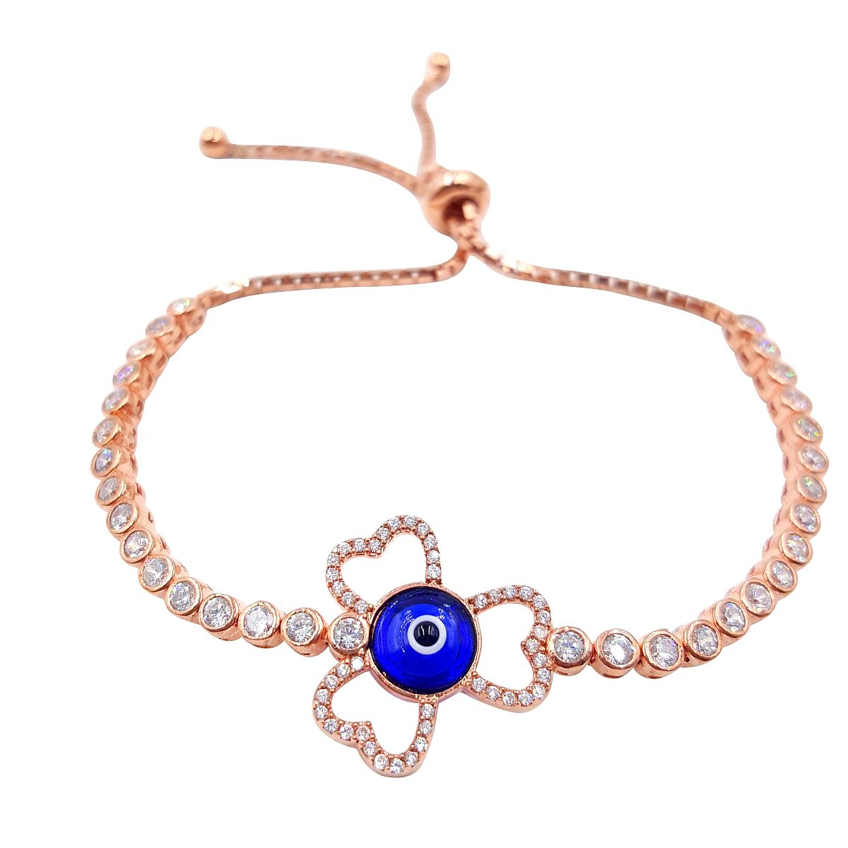 Gold over Sterling Silver Evil Eye Bracelet CMB20159393-2