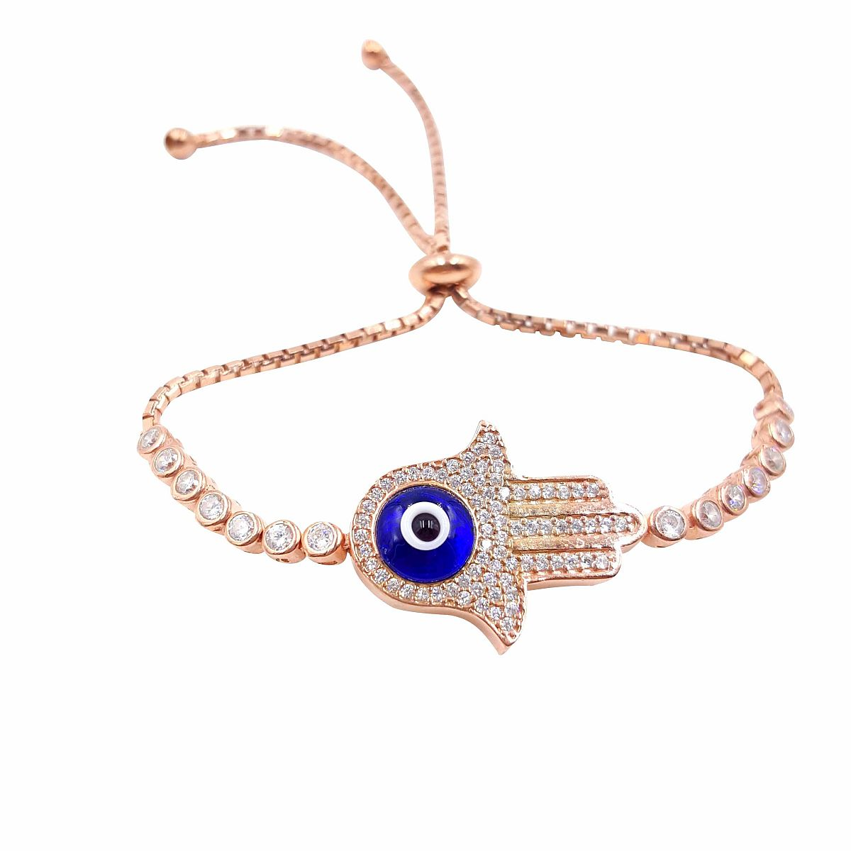 Gold over Sterling Silver Evil Eye Bracelet CMB20159401-G