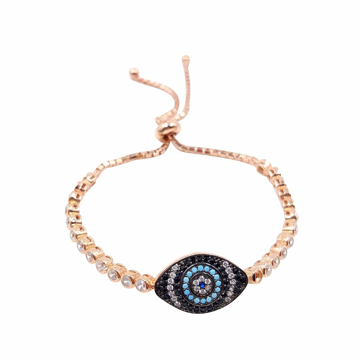 Gold over Sterling Silver Evil Eye Bracelet CMB20159402-G